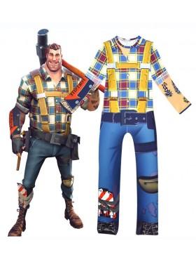 Kids Fortnite Constructor Jumpsuit Halloween Costume Cosplay Fancy Dress