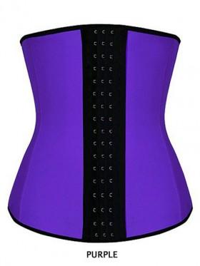 Women Latex Waist Trainer Training Cincher Underbust Corset Shaper Shapewear