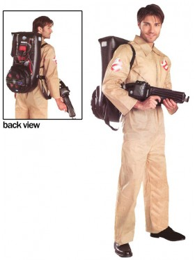 Licensed Mens Ghostbusters Halloween Adult Costume