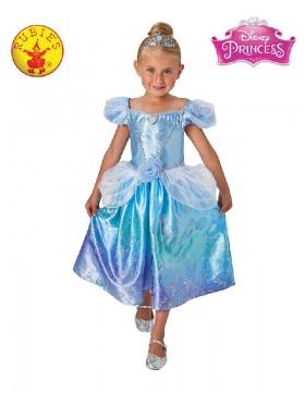 Girls Cinderella Rainbow Deluxe Costume