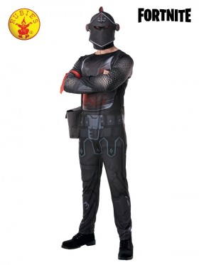 Mens Official Black Knight Fortnite Gaming Costume Outfit