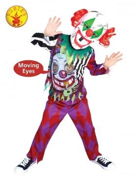 Children Scary Clown Lenticular Circus Costume