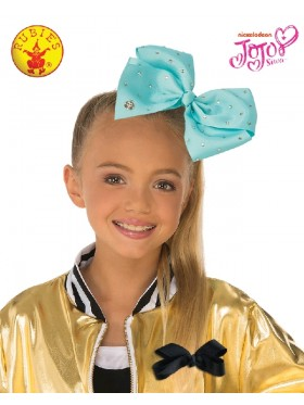 Blue JoJo Siwa Large Teal 8inch Bow with Rhinestones & Pin Child Girls Fashion Hair Accessories Licensed