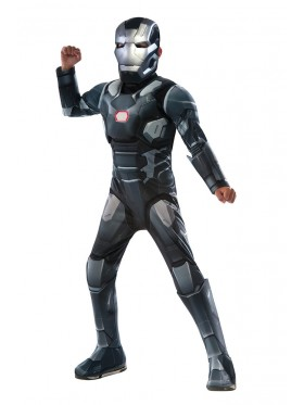 LICENSED DELUXE WAR MACHINE IROM MAN CHILD BOYS FANCY DRESS HALLOWEEN COSTUME