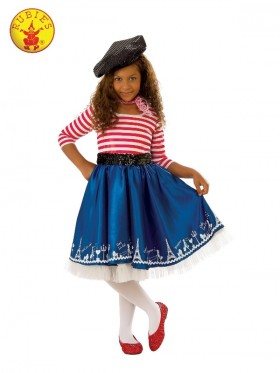 Girls Parisian Mademoiselle Costume