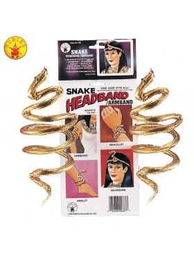 Cleopatra Gold Snake Arm Band Bracelet
