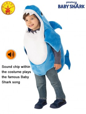 KIDS DADDY SHARK DELUXE BLUE COSTUME