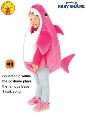 KIDS MUMMY SHARK DELUXE PINK COSTUME