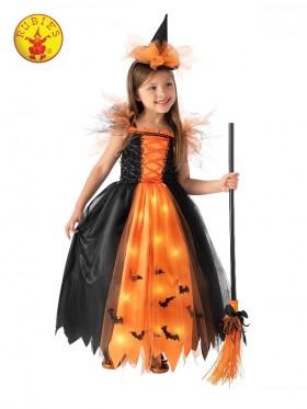 Orange Light Up Witch Kids Costume