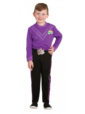 Lachy Purple The Wiggle Child Kids Book Week Party Dress Up Costume