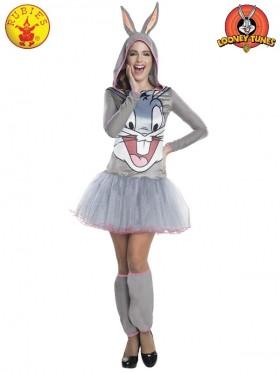 Ladies Bugs Bunny Hooded Tutu Dress