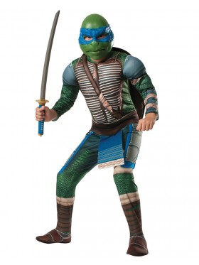 TV Show TMNT Teenage Mutant Ninja Turtles Costume Licensed Rubie's Leonardo Blue