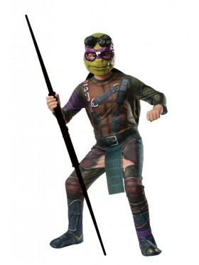 TV Show TMNT Teenage Mutant Ninja Turtles Costume Licensed Rubie's Donatello Purple