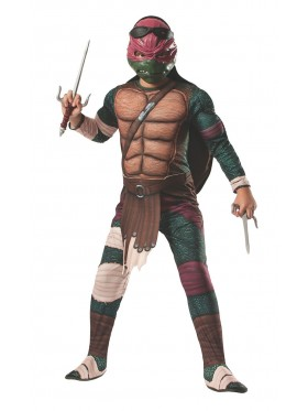 TV Show TMNT Teenage Mutant Ninja Turtles Costume Licensed Rubie's Raphael Red