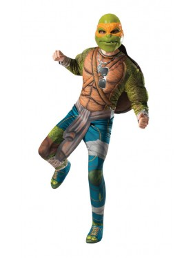 TV Show TMNT Teenage Mutant Ninja Turtles Costume Licensed Rubie's Michelangelo Orange