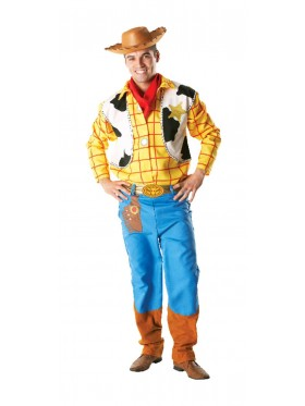Toy Story Woody Costume Disney Adult Mens Fancy Dress Cowboy Halloween With Wild Western Hat