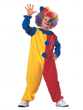 Clown Kids Jester Children Circus Boys Girls Book Week Fancy Dress Costume