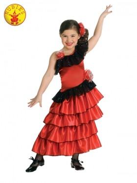 Girls Spanish Princess Flamenco Costume