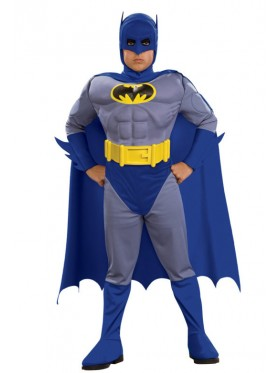 Kids Boys Batman Brave And Bold Deluxe Muscle Chest Child Halloween Fancy Dress Costume