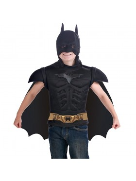Batman Superhero Dark Knight Halloween Cosplay Kids Child Boys Costume