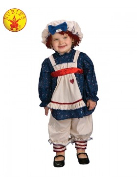 Ragamuffin Dolly Rag Doll Raggedy Ann Fancy Dress Up Pantaloons Child Costume