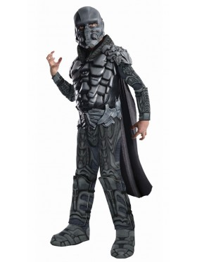 Superman Man of Steel Deluxe Muscle General Zod Child Boys Fancy Dress Up Costume