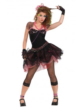 Madonna Wild Child Pop Diva 80s Clothing Fancy Dress Up Party Rock Costume
