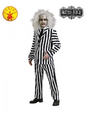 Mens Mr Beetlejuice Outfit Fancy Dress Party Dress Halloween Costume