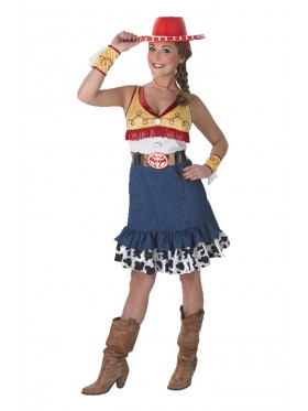 Adult Sassy Jessie Cowgirl Toy Story Costume Adult Halloween Fancy Dress Disney Outfit
