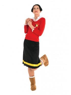 Adult Olive Oyl Deluxe Popeye Costume