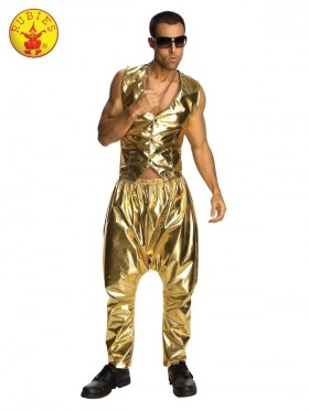 RAPPER GOLD PANTS ADULT