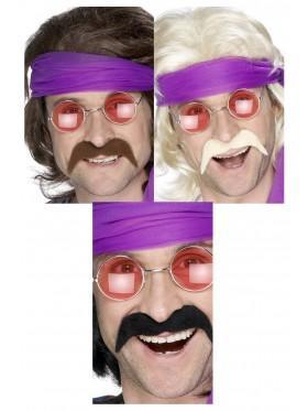 Black Brown Gold Seventies Tash 70s Moustache