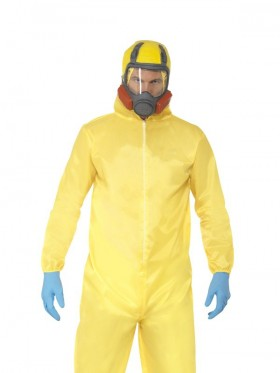 Adult Breaking Bad Hazmat Suit Walter Hazard Chemical Dress Up Men Costume Mask