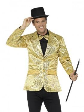 Mens Tuxedo Suit Gentleman Sequin Jacket Gold Charleston 40s Dance Coats Blazers Costume