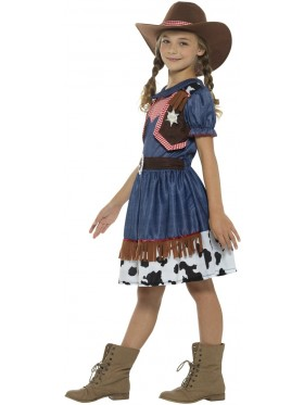 Texan Cowgirl Rodeo Wild West Western Sheriff Fancy Girl Costume
