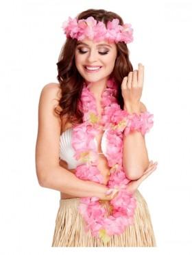 Ladies Pink Hawaiian Set