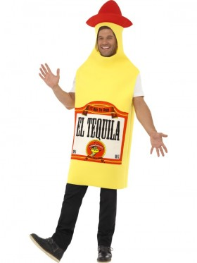 Tequila Bottle Mens Unisex Stag Night Mexican Adult Fancy Dress Costume Funny Dress Up Outfit