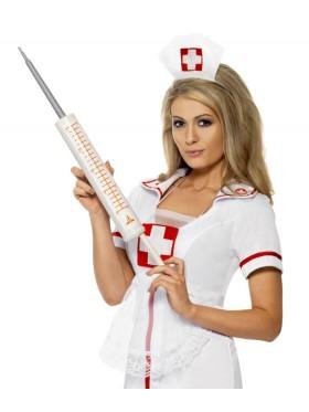 Plastic 54cm Jumbo Syringe Injectors Nurse Smiffys Fancy Dress Halloween Costume Accessory
