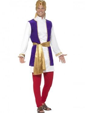 Adult Mens Arabian Prince Costume Aladdin Storybook Film Shiek Desert Sultan Arab Night Fancy Dress