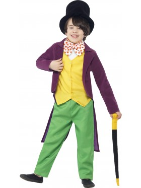 Roald Dahl Willy Wonka Chocolate Factory Boys Book Week Fancy Kids Costume