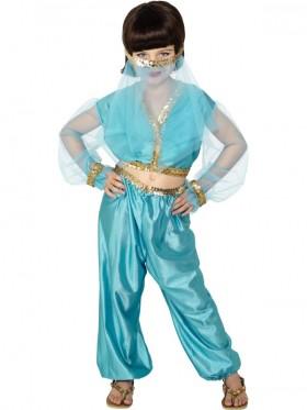 Girls Arabian Genie Aladdin Belly Costume Princess Jasmine Princess Dancer Party Outfit