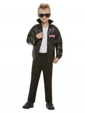 Boys T-Birds Gang Rock Jacket 1950 50s Black Grease Danny T bird Tbird Costume