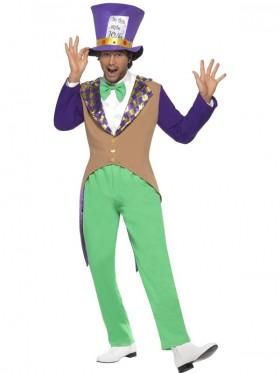 Deluxe Mad Hatter Alice Fancy Costume Book Week Storybook Fairytale In Wonderland Dress Up