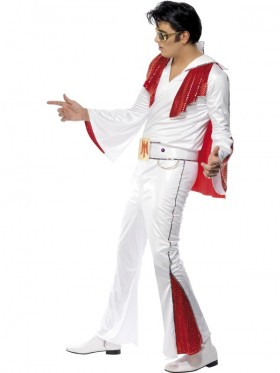 Elvis Presley Red Flare Licensed Costume Rock and Roll 50s 1950s Rock Star