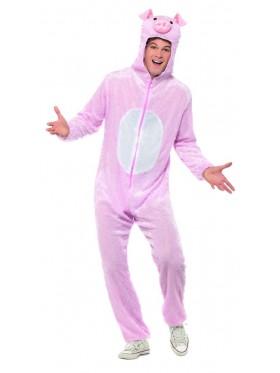 Unisex Pig Animal Onesie Adult Kigurumi Cosplay Costume Pyjamas Pajamas Sleepwear