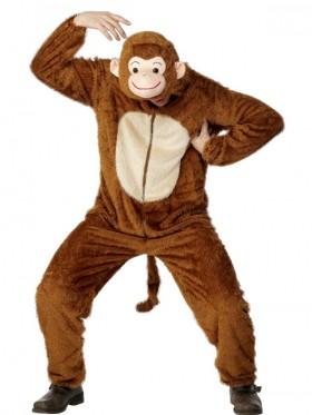 Adults Monkey Costume Jumpsuit Onesies