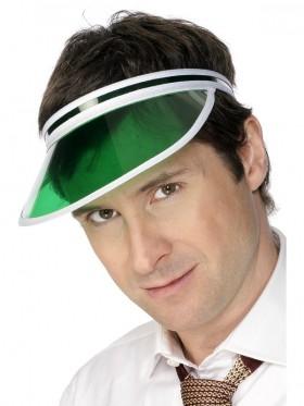 Las Vegas Casino Croupier Poker Green Sports Visor Sun Hat Cap Golf Accessory