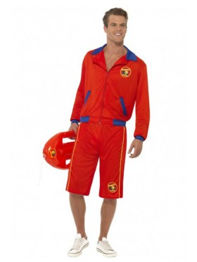 Licensed Mens Baywatch Beach Lifeguard Uniform Smiffys Fancy Dress Costume Outfits