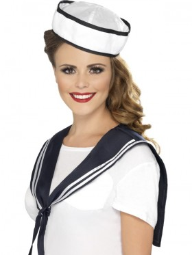 Adult Womens Sailor Instant Kit with Scarf and Hat Smiffys Fancy Dress Costume Navy Outfit Accessories Unisex