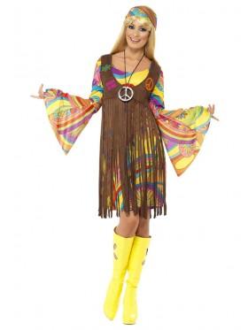 1960s Groovy Lady Hippie 70s Disco Retro Groovy Go Go Dance Party Costume